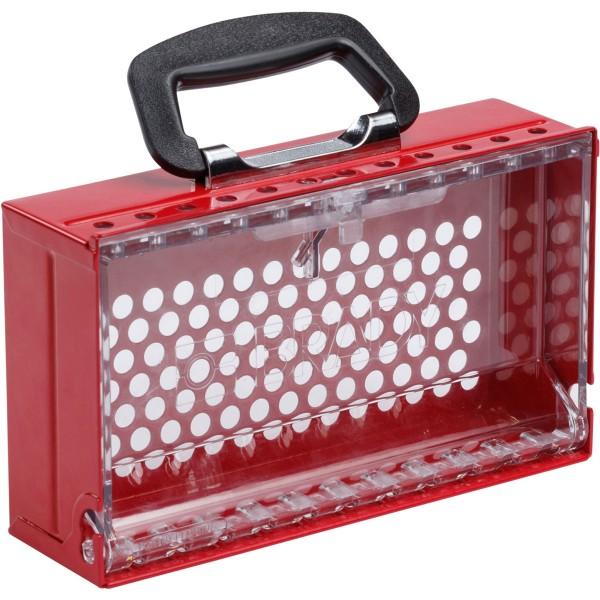 BRADY SlimView Gruppenverschlusskasten SLIMVIEW LOCK BOX, 12 PADLOCK, RED 150505