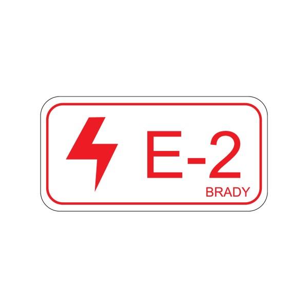 BRADY Etikett für Energiequellen–Elektrik ENERGY TAG-E-2-75X38MM-SA/5 138463