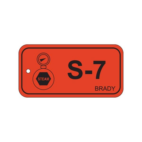BRADY Anhänger für Energiequellen–Dampf ENERGY TAG-S-7-75X38MM-PP/25 138762