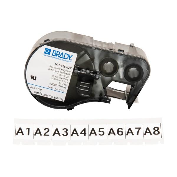 BRADY Etiketten für BMP41/BMP51/BMP53 Etikettendrucker MC-625-422 143243