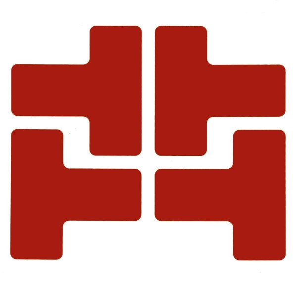 BRADY Eckemarkierung - Ts - 50,8mm x 127mm Rote Toughstripe Floor Marking P TOUT1 RED 104436