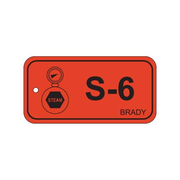BRADY Anhänger für Energiequellen–Dampf ENERGY TAG-S-6-75X38MM-PP/25 138761