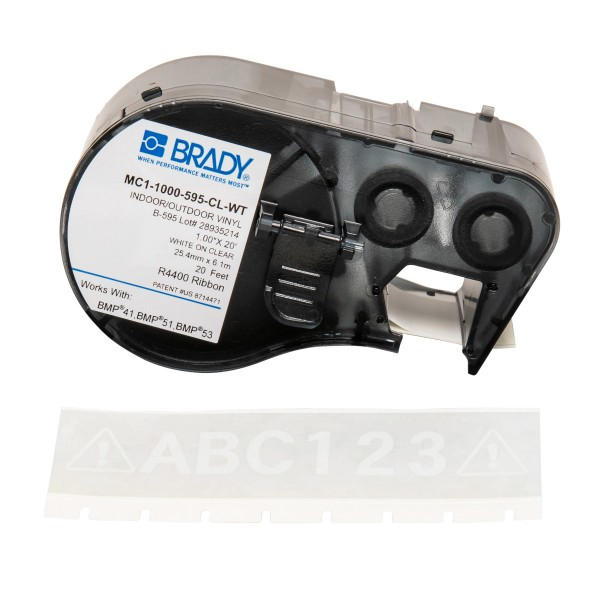 BRADY Band für BMP41/BMP51/BMP53 Etikettendrucker MC1-1000-595-CL-WT 131607