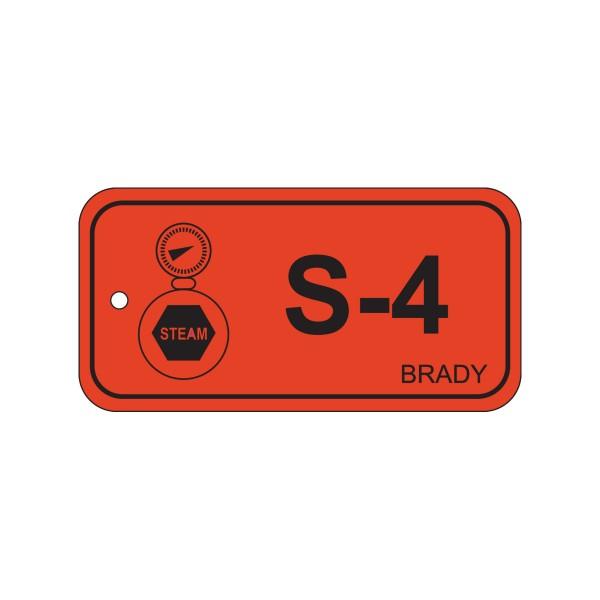 BRADY Anhänger für Energiequellen–Dampf ENERGY TAG-S-4-75X38MM-PP/25 138426