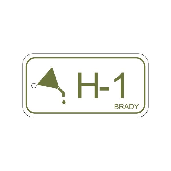 BRADY Anhänger für Energiequellen–Hydraulik ENERGY TAG-H-1-75X38MM-PP/25 138410
