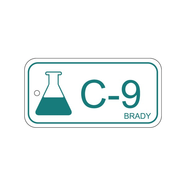 BRADY Anhänger für Energiequellen–Chemie ENERGY TAG-C-9-75X38MM-PP/25 138771