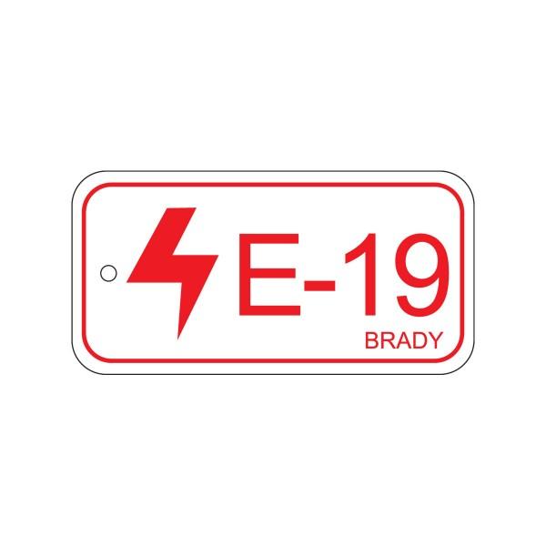 BRADY Anhänger für Energiequellen–Bedienfeld ENERGY TAG-E-19-75X38MM-PP/25 138837