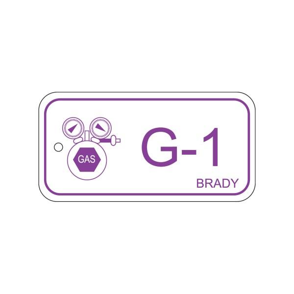 BRADY Anhänger für Energiequellen–Gas ENERGY TAG-G-1-75X38MM-PP/25 138418