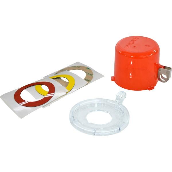 BRADY Lockout-Vorrichtung für Drucktasten (30 mm), Rot, mit Standardabdeckun 30MM PUSH BUTTON LO DEV