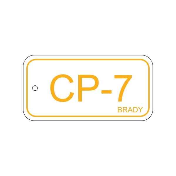 BRADY Anhänger für Energiequellen–Bedienfeld ENERGY TAG-CP-7-75X38MM-PP/25 138735
