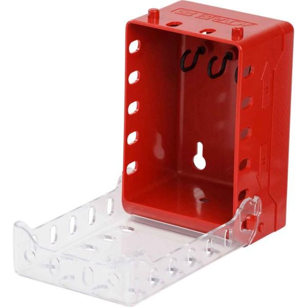 BRADY Ultrakompakter Gruppenverschlusskasten ULTRA COMPACT LOCK BOX, RED 149173