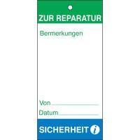 BRADY Anhänger für Wartungs - und Inspektionsdaten ANHÄNGER-ZUR REPARATUR-75X160MM 801419