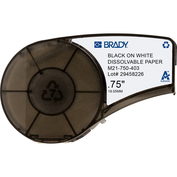 BRADY Wasserlösliches Papierband für die Druckermodelle BMP21, BMP21-PLUS un M21-750-403 149608