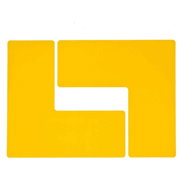 BRADY Eckemarkierung - Ls - 101,6mm x 254mm Gelbe Toughstripe Floor Marking YELLOW B-514 FLOOR LS 10