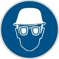 BRADY Gebotsschilder - Kopf- und Augenschutz benutzen PIC 263-DIA 315-B7541 222618