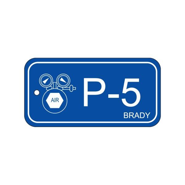 BRADY Anhänger für Energiequellen–Pneumatik ENERGY TAG-P-5-75X38MM-PP/25 138409