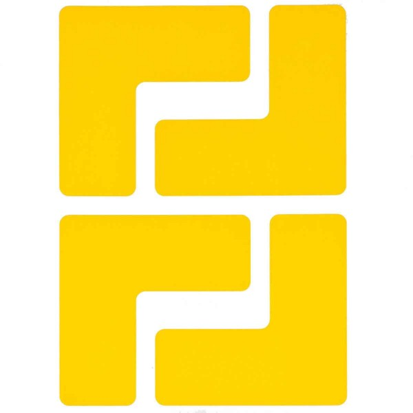 BRADY Eckemarkierung - Ls - 50,8mm x 127mm Gelbe Toughstripe Floor Marking TOUL1 YEL 104433