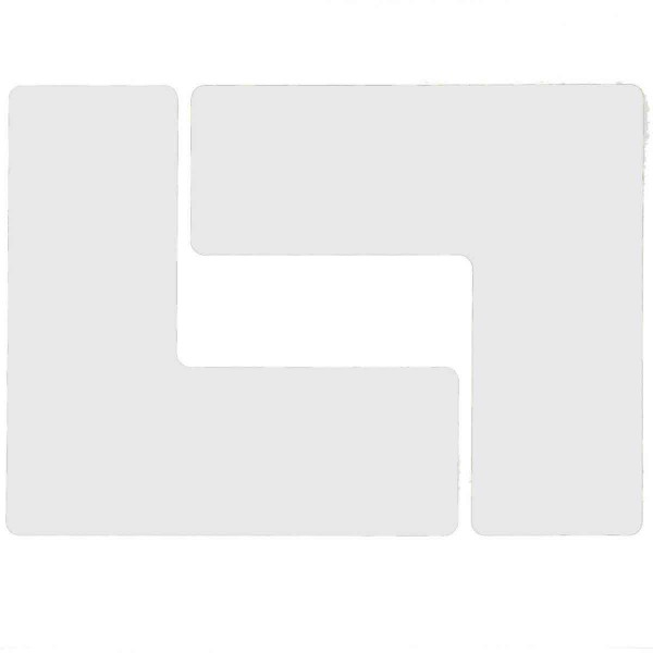 BRADY Eckemarkierung - Ls - 76,2mm x 203,2mm Weisse Toughstripe Floor Markin WHITE B-514 FLOOR LS 76