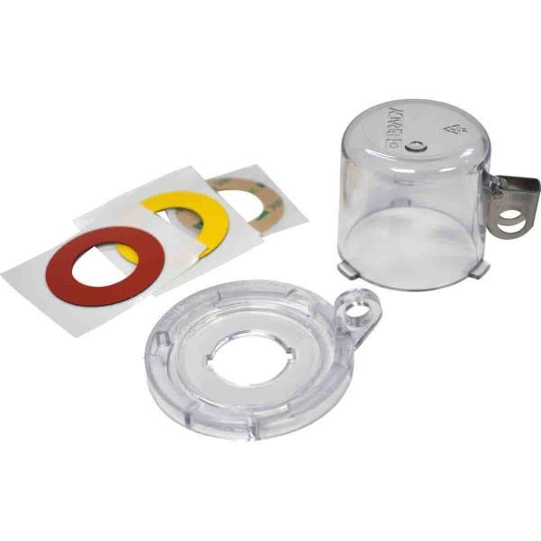 BRADY Lockout-Vorrichtung für Drucktasten (22 mm), Transparent, mit Standard 22MM CLEAR PUSH BUTTON