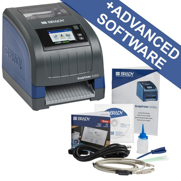 BRADY i3300Etikettendrucker für die Industrie–US, mit Brady Workstation-S I3300-C-US-PWID 241122