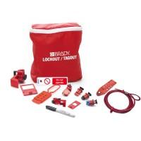 BRADY Lockout-Set für Elektriker + Anhänger DE LK-ELEC-DE 196221