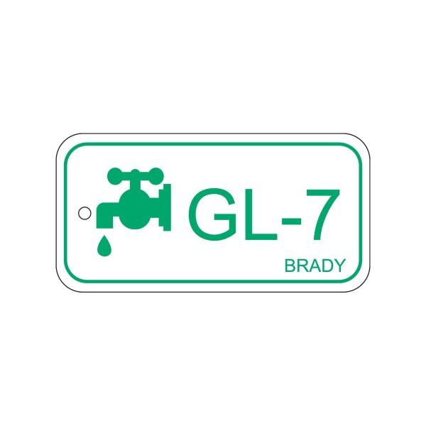 BRADY Anhänger für Energiequellen–Glykol ENERGY TAG-GL-7-75X38MM-PP/25 138805