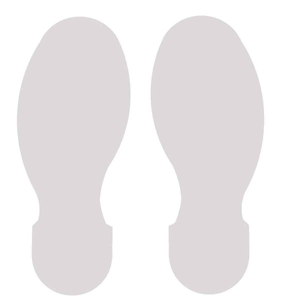 BRADY Fussabdrucke - Weisse Toughstripe Polyester TOPAS WHT 104411
