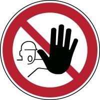 BRADY Verbotsschilder - Zutritt für Unbefugte verboten PIC 209-DIA 100-B7527 222923