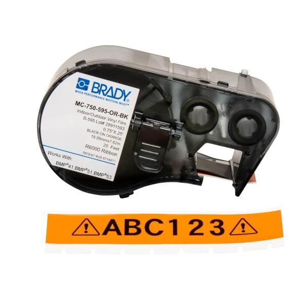 BRADY Band für BMP41/BMP51/BMP53 Etikettendrucker MC-750-595-OR-BK 143368