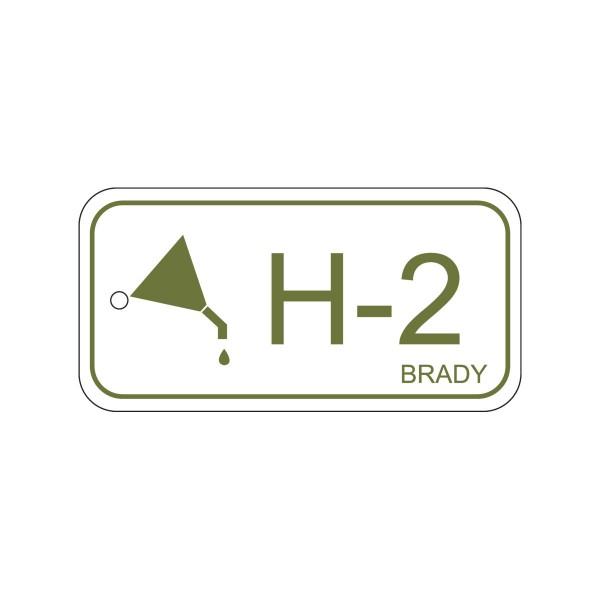 BRADY Anhänger für Energiequellen–Hydraulik ENERGY TAG-H-2-75X38MM-PP/25 138411