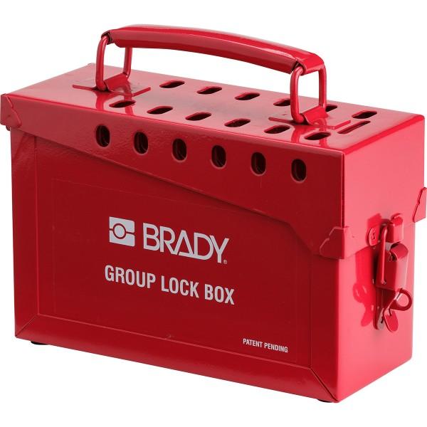BRADY Verschlußkasten, Rot METAL LOCK BOX, 13 LOCK, RED 65699