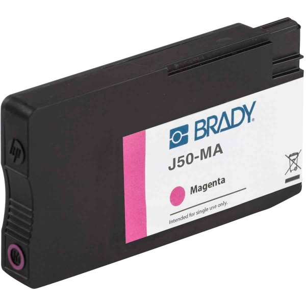 BRADY Tintenpatrone für den BradyJet J5000-Drucker auf Basis von magentafarb J50-MA 148762