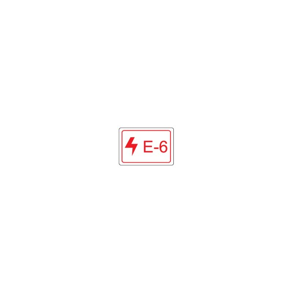 BRADY Etikett für Energiequellen–Elektrik ENERGY TAG-E-6-19X13MM-SA/100 138457