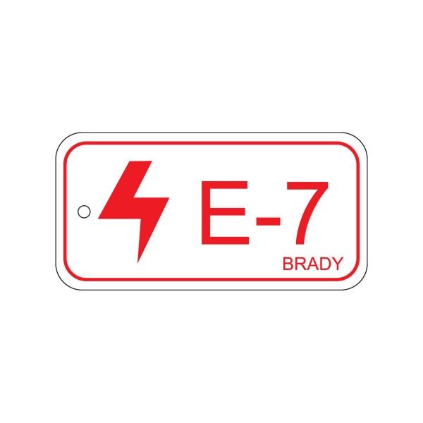 BRADY Anhänger für Energiequellen–Elektrik ENERGY TAG-E-7-75X38MM-SAPP/25 138448