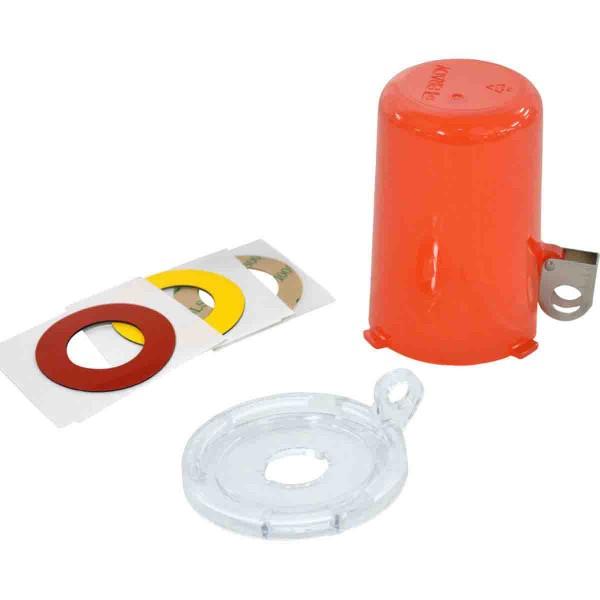 BRADY Lockout-Vorrichtung für Drucktasten (16 mm), Rot, mit langer Abdeckung PUSH BUTTON LO DEVICE,