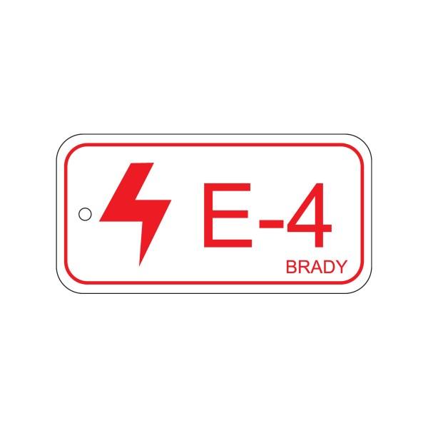 BRADY Anhänger für Energiequellen–Elektrik ENERGY TAG-E-4-75X38MM-SAPP/25 138403