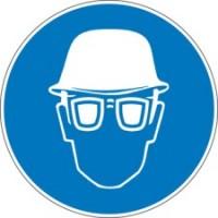222618 - Gebotsschilder - Kopf- und Augenschutz benutzen