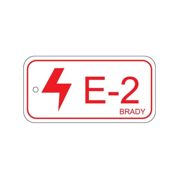 BRADY Anhänger für Energiequellen–Elektrik ENERGY TAG-E-2-75X38MM-SAPP/25 138401