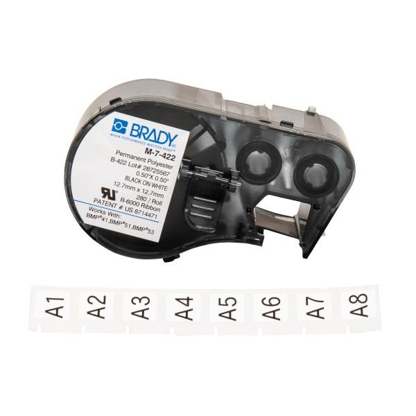 BRADY Etiketten für BMP41/BMP51/BMP53 Etikettendrucker M-7-422 143241