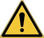 139004 - Allgemeines Warnschild – ISO 7010