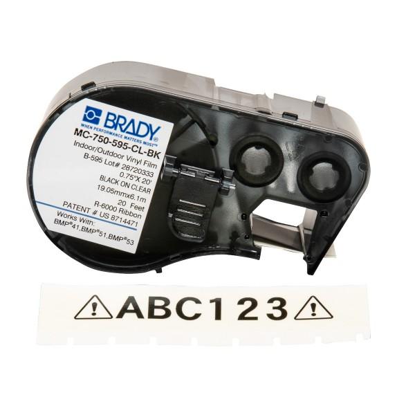 BRADY Band für BMP41/BMP51/BMP53 Etikettendrucker MC-750-595-CL-BK 143364