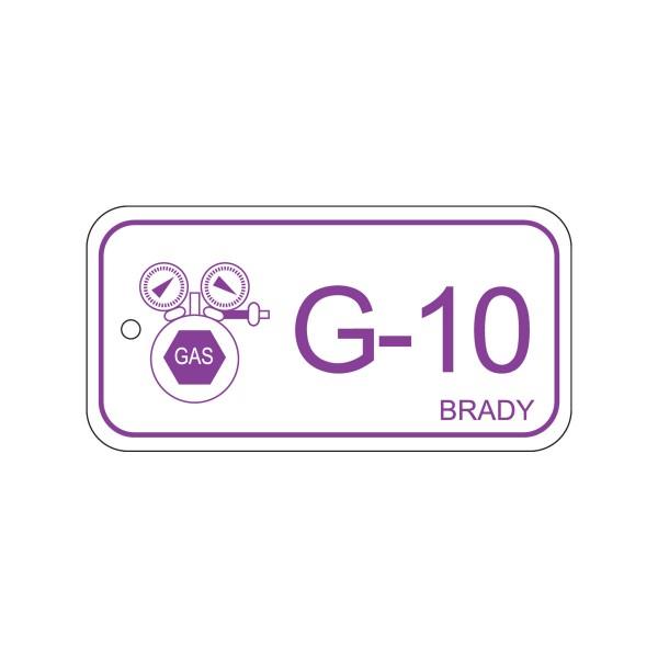 BRADY Anhänger für Energiequellen–Gas ENERGY TAG-G-10-75X38MM-PP/25 138760