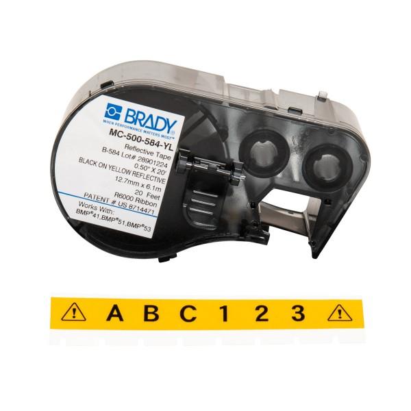 BRADY Etiketten für BMP41/BMP51/BMP53 Etikettendrucker MC-500-584-YL 143407