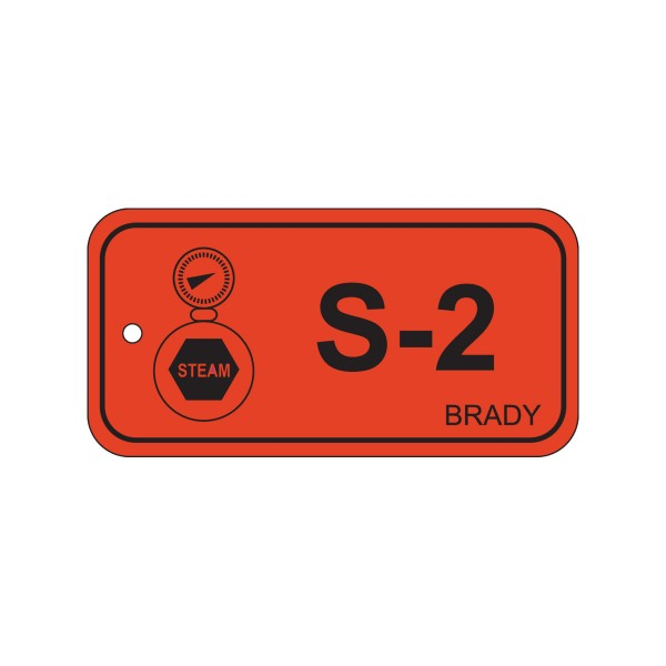 BRADY Anhänger für Energiequellen–Dampf ENERGY TAG-S-2-75X38MM-PP/25 138424