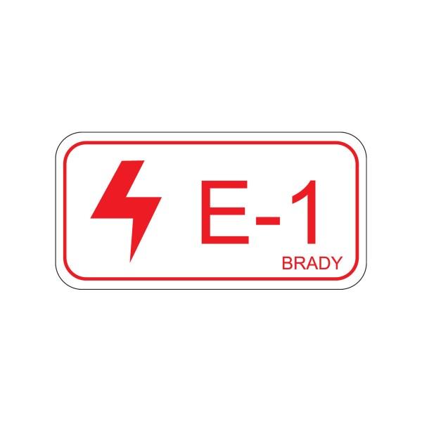 BRADY Etikett für Energiequellen–Elektrik ENERGY TAG-E-1-75X38MM-SA/5 138462