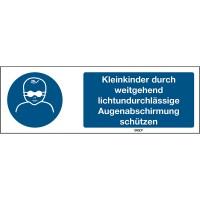 BRADY ISO-Sicherheitsschild – Kleinkinder durch weitgehend lichtundurchlässi STDE M025-450X150-AL-CR
