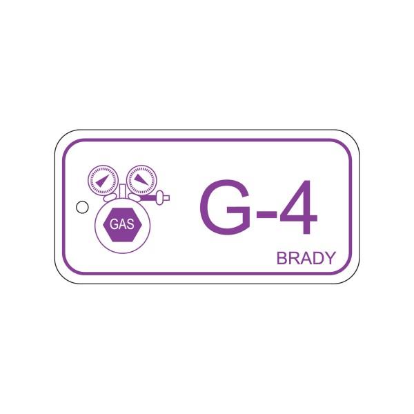 BRADY Anhänger für Energiequellen–Gas ENERGY TAG-G-4-75X38MM-PP/25 138421