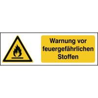 BRADY ISO Sicherheitskennzeichnung - Warnung vor feuergefährlichen Stoffen W/W021/DE256/TW-297X105-1